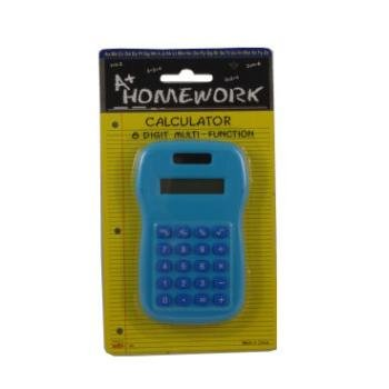 Battery Calculator - 8 digit display - Asst. Color 48 pcs sku# 479182MA by A+Homework