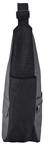 Healthy Nylon AmeriBag Grey Stormy Distressed Bag Black Back Small qggxtPwna7