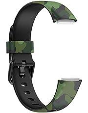 Armband compatibel met Fitbit Luxe reservearmband zachte TPU-armband waterdichte horlogeband
