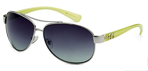 D618 Dg or CG Eyewear Metal Aviator Womens Fashion Sunglasses (CG Pastel Green) from Unknown