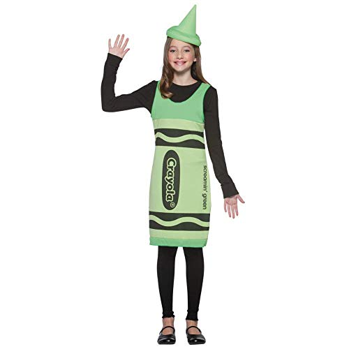 Crayola Crayon Tank Dress Tween Costume Screamin' Green