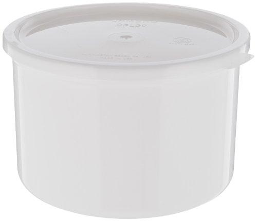 (Cambro (CP15148) 1-1/2 qt Solid Color Plastic Crock w/Lid [Case of 6] )