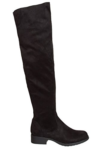 Shelikes Womens Over the Knee Faux Suede Boots Sizes UK 3 4 5 6 7 8 Black mnagSNSLGo