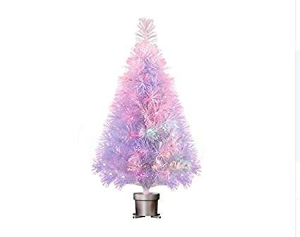 "32"" WHITE Color Changing Fiber Optic Artificial Christmas Tree with  Multi-Color - Amazon.com: 32"