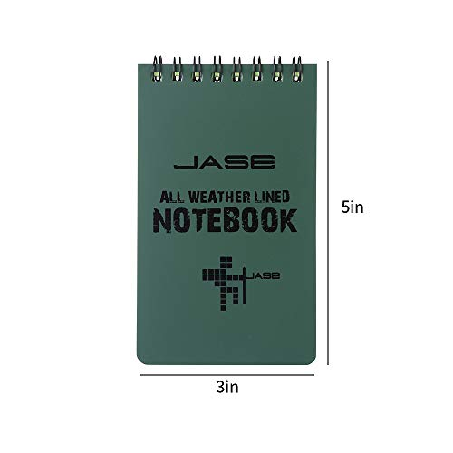 Aketek Set of 5 Green Waterproof/All Weather/Shower/Aqua Notes/Notepad/Notebook