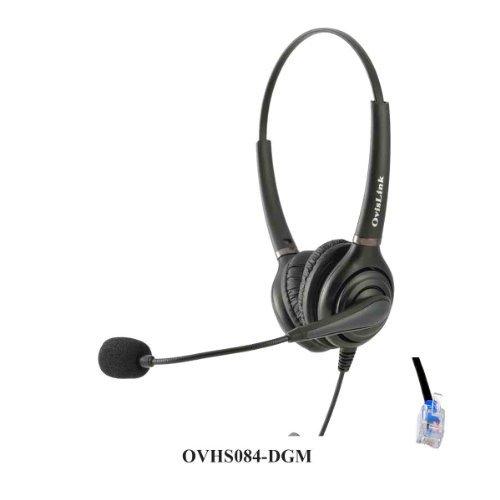 Ovislink Dual Ear Call Center Headset for Digium IP Phones