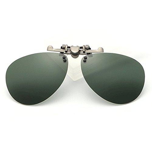 LOMOL Fashion Polarized Myopia Clip-on Flip up UV Protection Aviator Style - Sunglasses Free Shipping Wholesale China