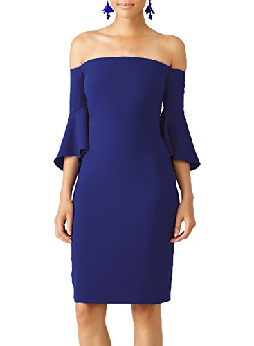 WOOSEA Womens Shoulder Trumpet Cocktail product image