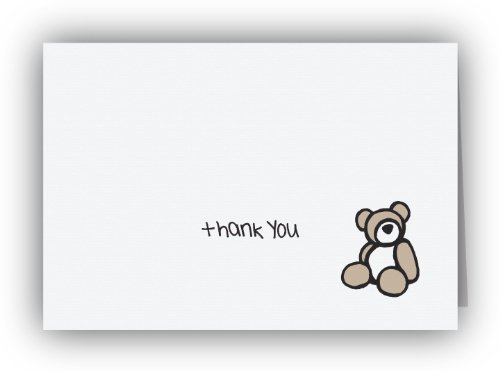 (Teddy Bear Thank You Cards - 24 Cards & Envelopes)