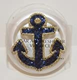 Bath & Body Works Scentportable Car Visor Clip Holder Navy Glitter Anchor