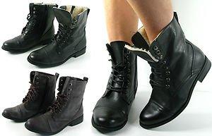 b918e249007 Tilly Shoes - Botas militares para mujer (caña baja