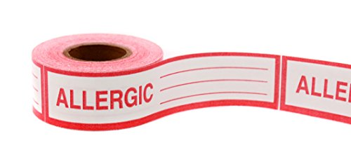 Allergy Warning Alert, Write-In Sticky Tape (Clean-Remove Adhesive) – 1 in. Wide x 500"