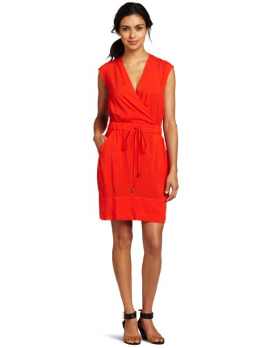 Kenneth Cole New York Women's Petite Smocked Waist Pullover Dress