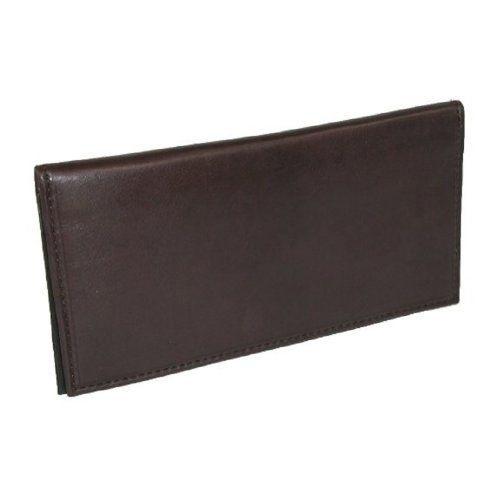 Brown Leather Checkbook Cover - Basic BROWN Leather Checkbook Cover