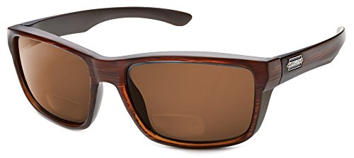 Suncloud Mayor Polarized Bi-Focal Reading Sunglasses in Burnished Brown w/Brown Lens +1.25 by Suncloud
