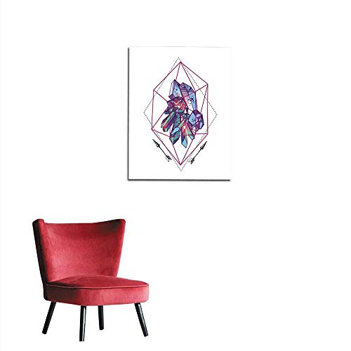 longbuyer Wall Sticker Decals Sketch of Crystals Mural 20