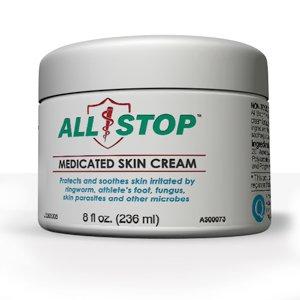 All Stop antifongique, antiparasitaire crème médicamentée pour la peau - 8 Oz