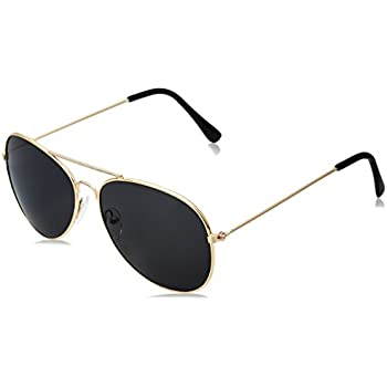 WearMe Pro - Polarized Metal Frame Pilot Style Aviator Sunglasses (Spring Hinge: Gold/Black, 57)