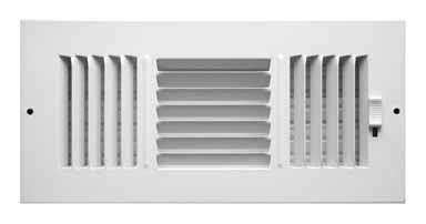 - Truaire C103M 10X04(Duct Opening Measurements) 3-Way Supply 10-Inch by 4-Inch Sidewall or Ceiling Register Grille, White