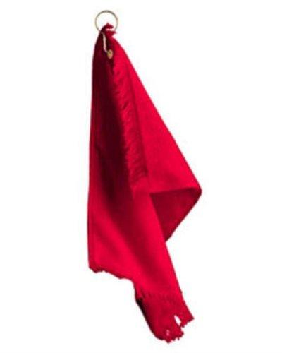 Anvil T60G Fingertip Towel with Grommet Red