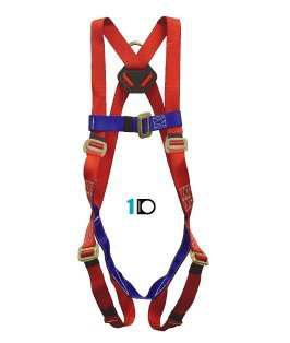 Elk River 01811 Freedom Polyester One D-ring Harness Retail Clamshell Packaging with Mating Buckles, Fits Small to Large by Elk River