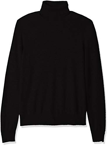 (BUTTONED DOWN Men's 100% Premium Cashmere Turtleneck Sweater, Black, XX-Large)