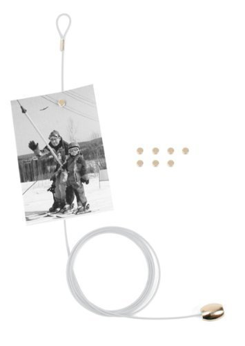 No1GS - WHITE Magnetic Photo Holder, Picture Display Magn...