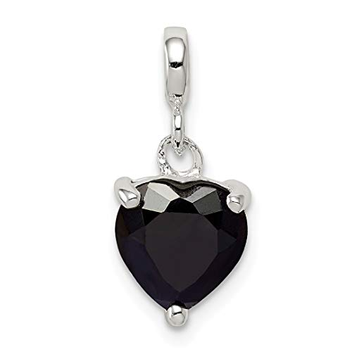 ICE CARATS 925 Sterling Silver Black Cubic Zirconia Cz Heart Enhancer Necklace Pendant Charm Love Fine Jewelry Ideal Gifts For Women Gift Set From Heart by ICE CARATS (Image #8)