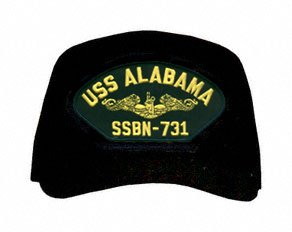 Uss Dolphin - MilitaryBest USS Alabama SSBN-731 (Gold Dolphins) Submarine Officers Cap with Custom Back Text
