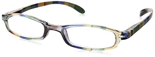 Wink Fancy Slim Green Stripe Reading Glass with Matching Case, +1.75, 0.200 Ounce Stripe Reading Glasses