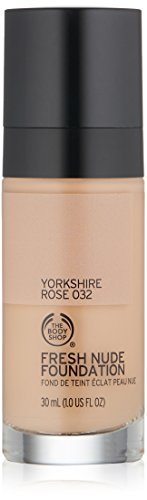 The Body Shop Fresh Nude Foundation, Shade 32 Yorkshire Rose, 1 Fluid Ounce