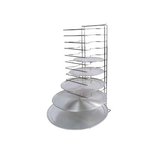 Winco APZT-1015 15-Slot Aluminum Pizza Pan Rack