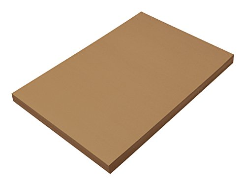 "Pacon SunWorks Construction Paper, 12"" x 18"", 100-Count, Light Brown (6908)"
