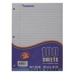 A+Homework - Loose Leaf Filler Paper - 100 Sheets Wide Ruled (1 pack of 36 items)