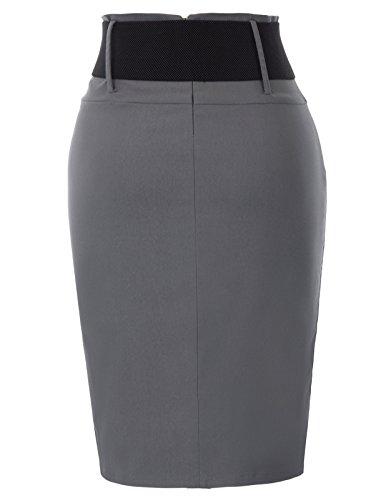 Kasin Jupe Le Les Bureau Crayon Bodycon Femmes Kate pour 762 2 Gray Dark Portant BnwxRCq