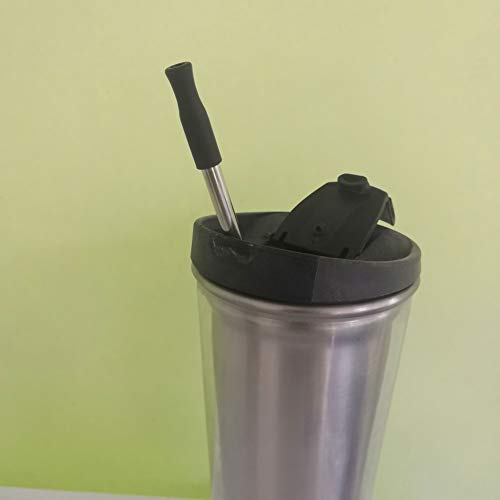 Silicone Straw Tips Covers Fit for 8 mm straws in compostable bag