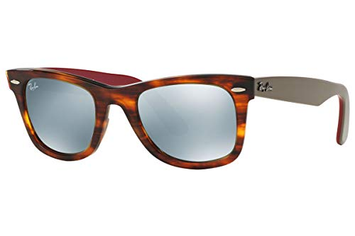 Ray-Ban Original Wayfarer RB 2140 1178/30 54mm Striped Havana Frame/Silver - Striped Sunglasses Mens