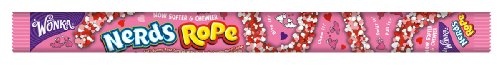 Wonka Nerds Rope Valentines Day, 0.92-Ounce Packages (Pack of 24) (Candy White Nerds)