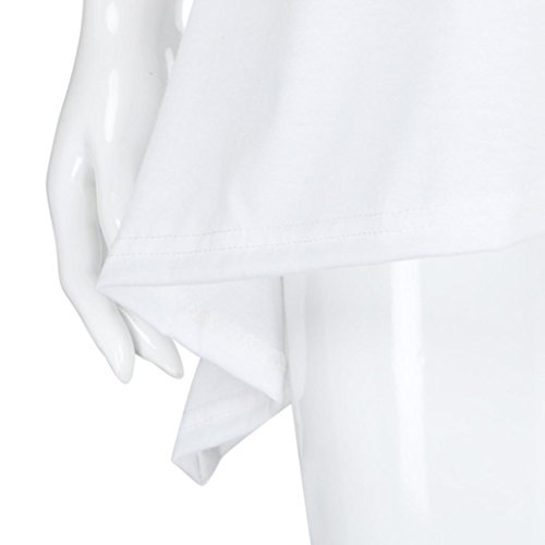Femme Gilet Tops Tank sans Irrgulier T Manche Blanc Dbardeur Vest Chemisier Traverser Hem Sexyville Shirt 5a1gU