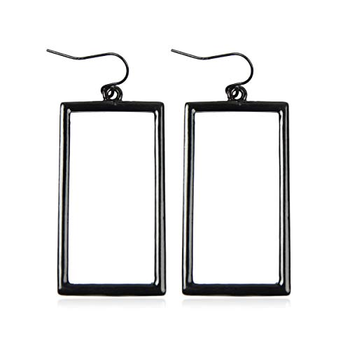 RIAH FASHION Lightweight Geometric Cut-Out Drop Earrings