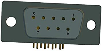 25 Contacts D Sub Connector 174-E M Series 174-E25-213R461 Steel Body Pack of 5 Receptacle DB 174-E25-213R461 DB25 Through Hole