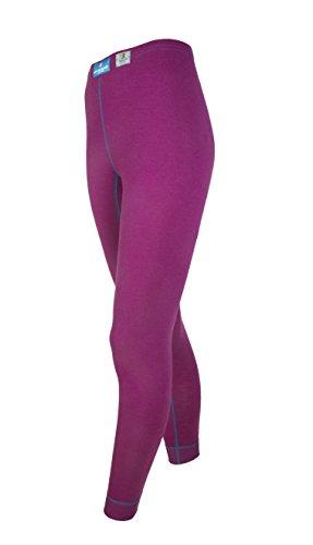 Janus 100% Merino Wool Women's Sport Leggings Machine Washable Made in Norway (X-Small, Lilac)