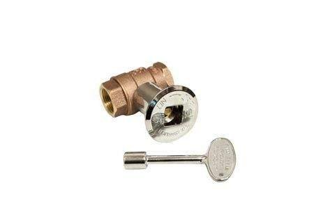 Hearth Products Controls (HPC 3/4-Inch Straight Gas Fire Pit Shut Off Valve Kit (MSCB-HC), Polished Chrome Flange and Key ()