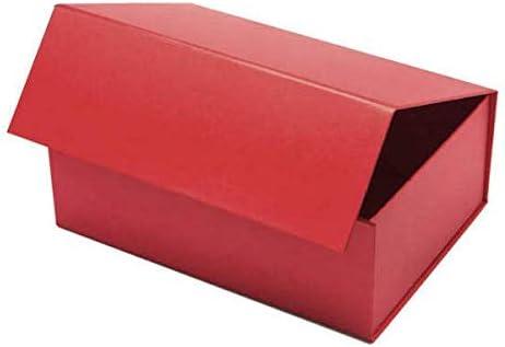 Caja de regalo magnética para cumpleaños, Navidad, bodas o regalos de empresa, color rosso A4 - 310 X 215 X 100 mm: Amazon.es: Oficina y papelería