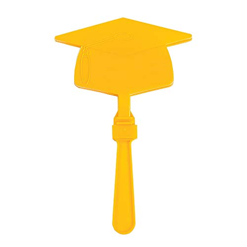 Fun Express - Yellow Mortar Board Clapper for Graduation - Toys - Noisemakers - Hand Clappers - Graduation - 12 Pieces]()