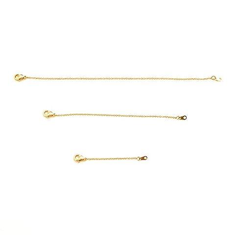 HONEYCAT 24k Gold Plated Necklace Extender Set 2