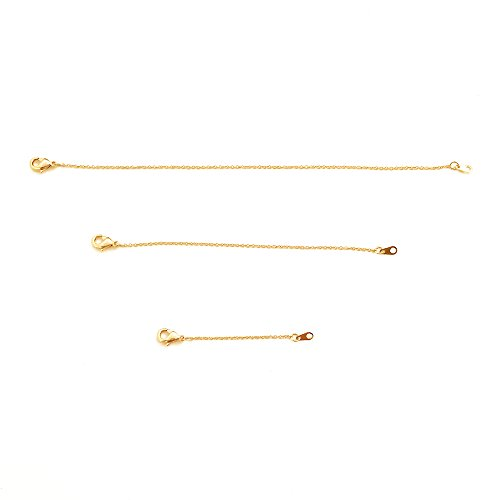 HONEYCAT 24k Gold Plated Necklace Extender Set 2