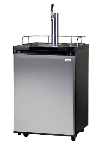 Kegco Kegerator Full Size Keg Refrigerator - Single Faucet - D System, Stainless Steel by Kegco