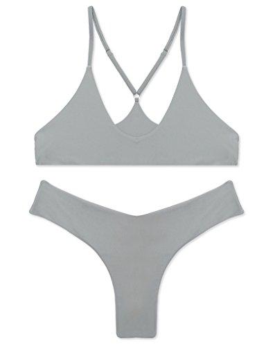 RELTANGL Womens Triangle Brazilian Swimwear