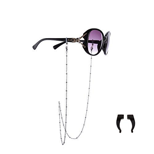 HolyFast Eyeglass Chain Stainless Steel Chain Sunglasses 65cm 70cm 2-3mm Wide Eyewear Set Beads Chain Cord Neck Strap Holder For - Stainless Eyeglasses Steel